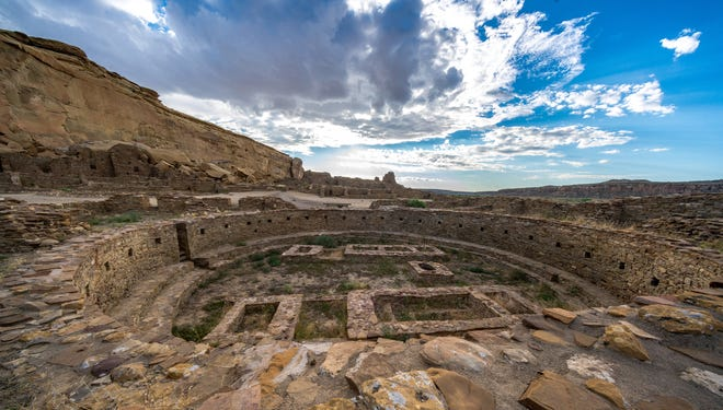 Pueblo Bonito is seen in this photo at Chaco Culture National Historic Park.