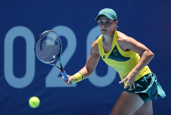 Ash Barty, shown here during the 2021 Tokyo Olympics in July, will not play at the BNP Paribas Open this year.