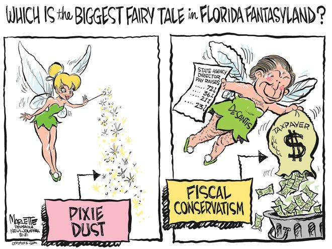 Marlette cartoon: Florida fairy tales