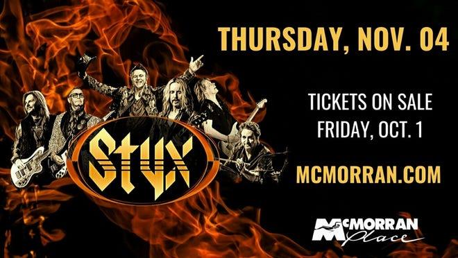 Styx will be performing at McMorran in November.