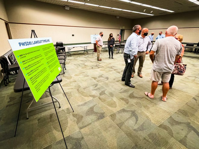 City Utilities held an open house for residents in three of the disputed subdivisions named in a lawsuit filed by Public Water Supply District 1.