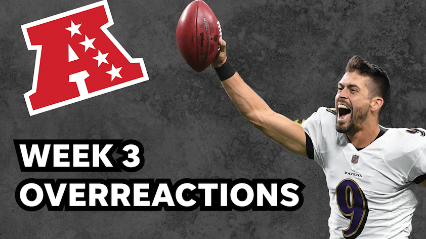 AFC Week 3 overreactions: Justin Tucker's heroics lift roughed up Ravens