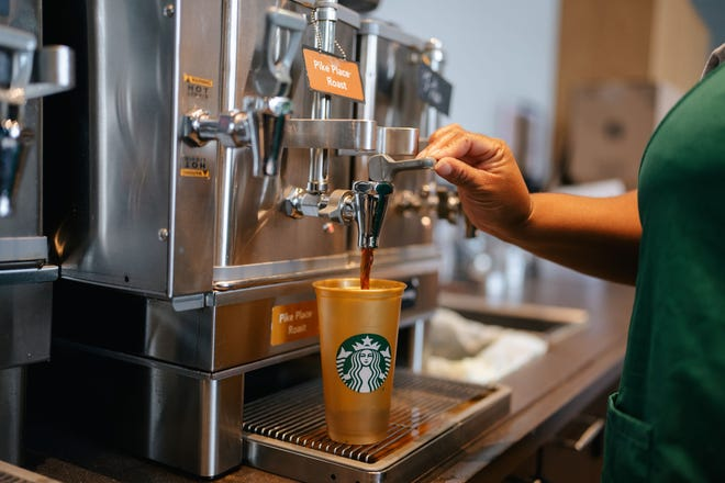 Starbucks has a National Coffee Day deal if you bring in a reusable cup.