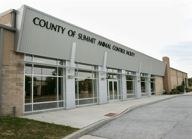 The County of Summit Animal Control Facility at 250 Opportunity Parkway, Akron.