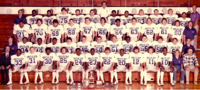 The 1981 NJCAA National Champions, the Butler County Grizzlies. They finished the season 12-0.