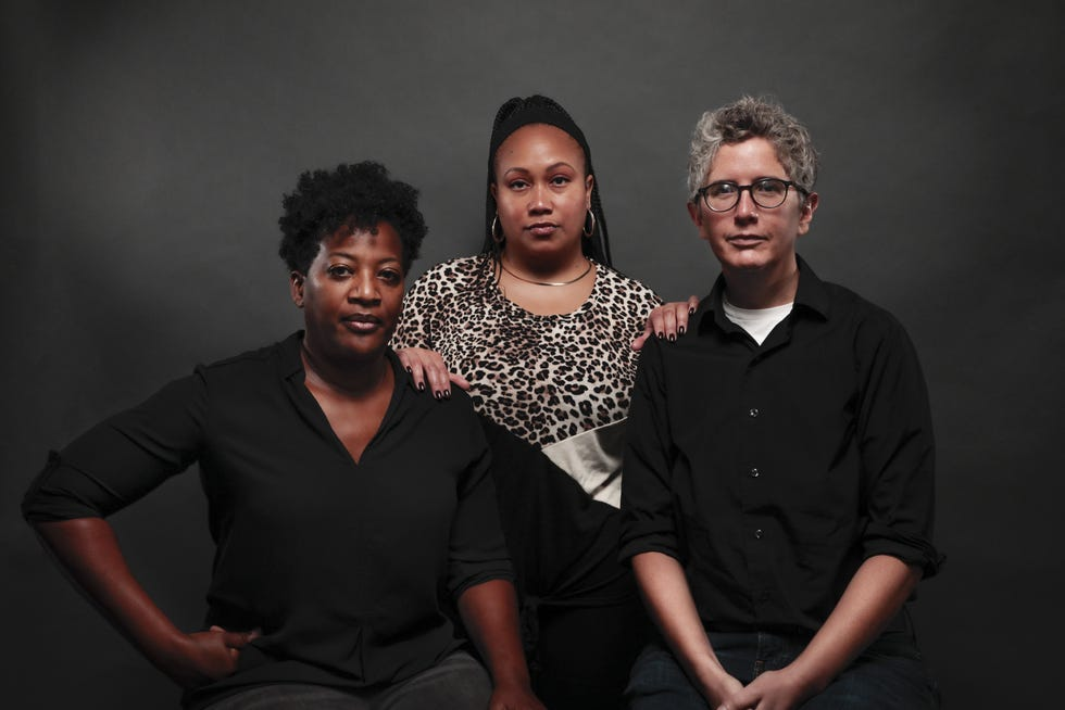 Former Equitas Health employees, from left, Lisa McLymont, Tia Carrington and Liz Rose-Cohen said they experienced or witnessed a culture of discrimination at the organization.