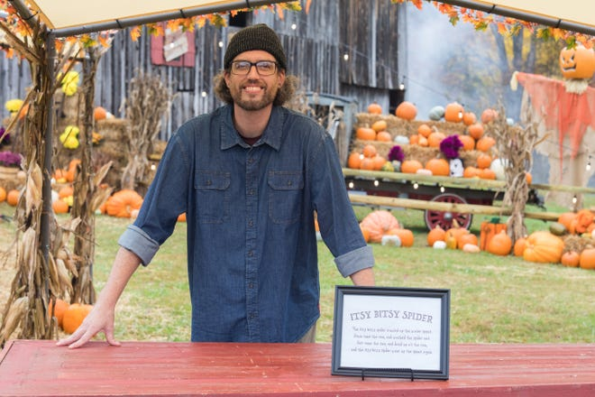 """Titus Arensberg of Newark is competing on """"Outrageous Pumpkins."""""""
