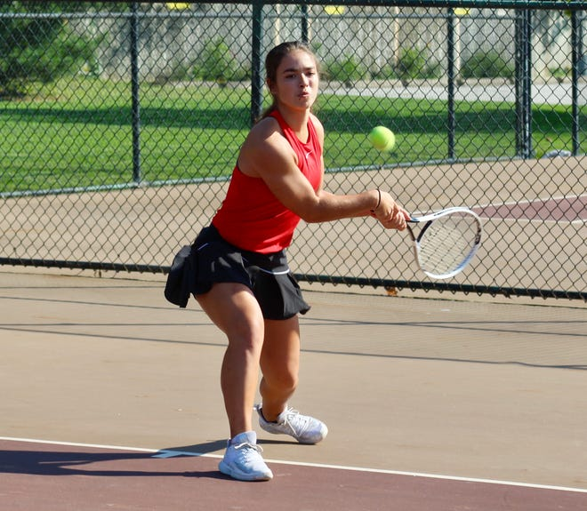 Senior Mary Pedrozo is playing first singles for South and was 8-2 before facing Westland on Sept. 30. The Wildcats will compete in a Division I sectional Oct. 7 and 9 at Reynoldsburg.