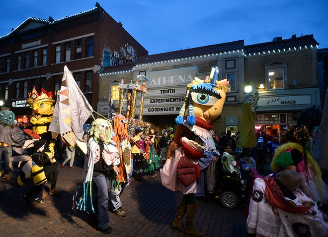 The Athens Halloween Block Party, seen in 2015, has been canceled this year due to COVID-19.