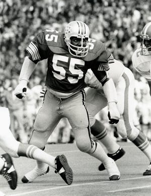 Aaron Brown won All-American honors during his senior season with Ohio State in 1977.