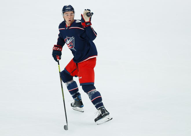 Defenseman Gavin Bayreuther scored a goal and skated 15:23 per game last season with the BlueJackets.
