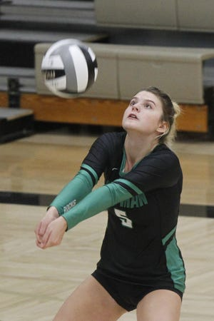 Junior Leah Shumate has been a top performer for Coffman, leading the Shamrocks in assists with 247 through 14 matches. She splits time between setter and outside hitter.