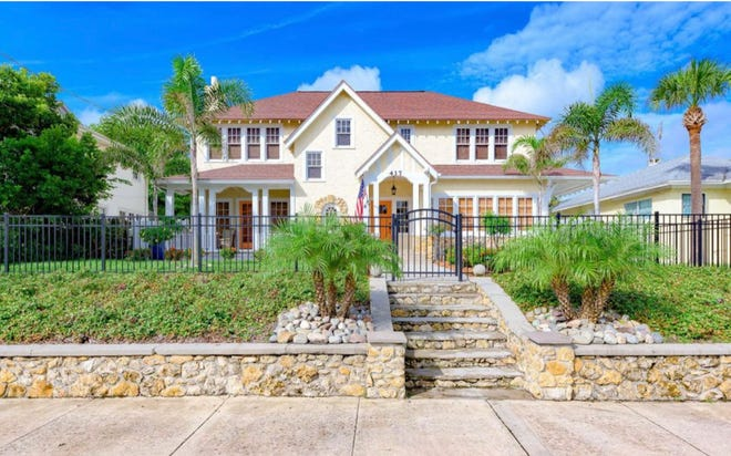 Nestled in the heart of Daytona Beach's Seabreeze Historic District, this Tudor-style home has been carefully and lovingly renovated.