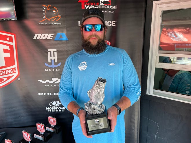 Boater Payden Hibdon of Versailles, Missouri wins the two-dayPhoenix Bass Fishing League Super-Tournament.