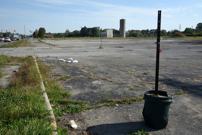 The site off S.Telegraph Rd where the former La-Z-Boy headquarters once stood. The City of Monroe plans to transform the property into a mixed-use development featuring commercial, residential and park spaces, but construction cannot begin until several permits are approved at the state level.