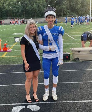 The Lourdes 2021 Homecomimg King and Queen are Octavio Lopez and Bayley Allgood.