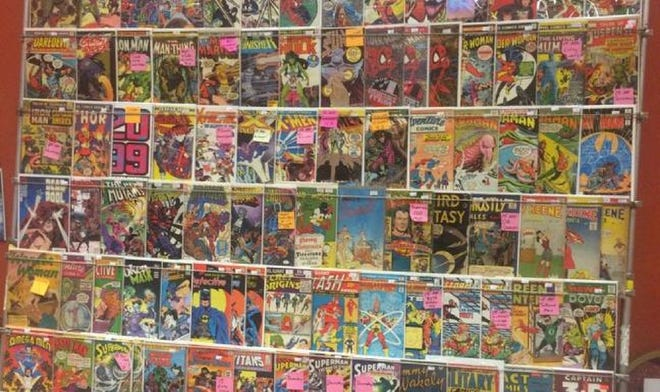 Comics on display at a previous OAFCon.