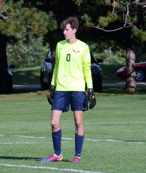 Boyne City's Nic Santina has continued to keep opponents off the scoreboard within LMC play, with the Ramblers earning a ninth shutout against Kalkaska.