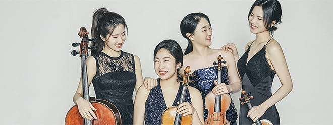 The Risus Quartet won the 2021 Fischoff National Chamber Music Competition Grand Prize and Gold Medal in the Senior String Division at the May 2021 virtual competition. The South Korean ensemble will perform Oct. 10, 2021, at the University of Notre Dame's O'Neill Hall of Music in the LaBar Recital Hall.