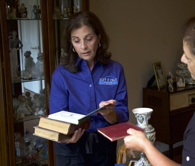 Nancy Patsios, professional organizer and owner of Sort it Out, in Boston, often works with clients to help them downsize after they've lost a partner.
