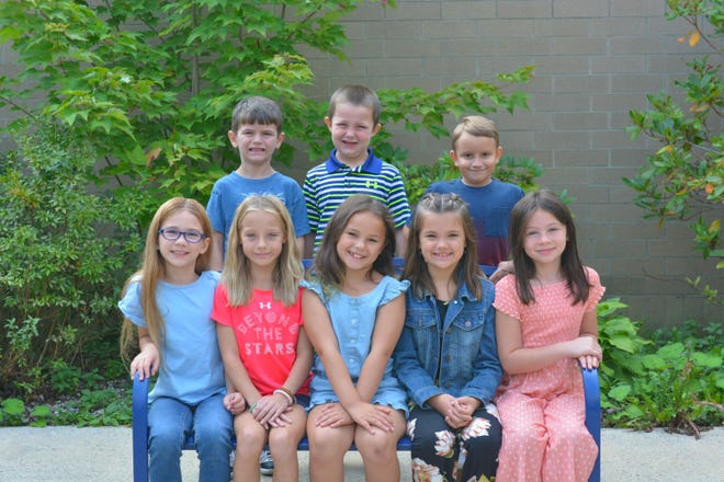 The Shade-Central City Elementary 2021 homecoming members are shown, from left to right: (front) Lita Hartman, Grace Maurer, Makenzie Collins, Kylie Harodetsky and Clara Blackburn; and (back) Jason Rose, Carter Hostetler and Rylan Smith.