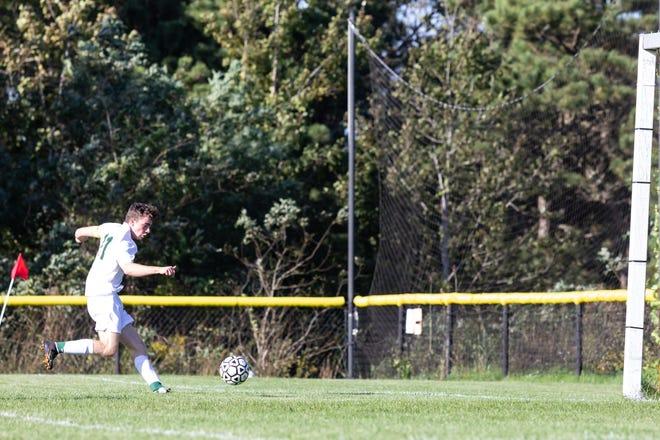 Dighton-Rehoboth's Reece Cordeiro (file photo) scored the winner against Durfee for his team's 20th straight win.