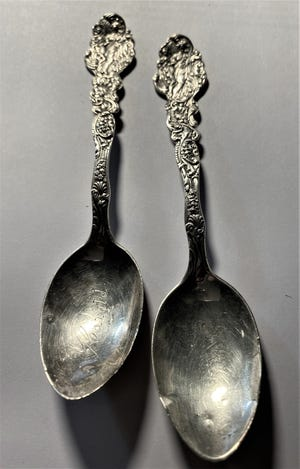 These Gorham Silver Company teaspoons were made in America, likely in the late 1800s. [Submitted photo]