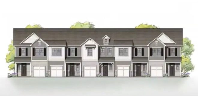 Artist rendering of the Meadowstone Townhomes recently presented to the Mebane City Council. [Submitted]