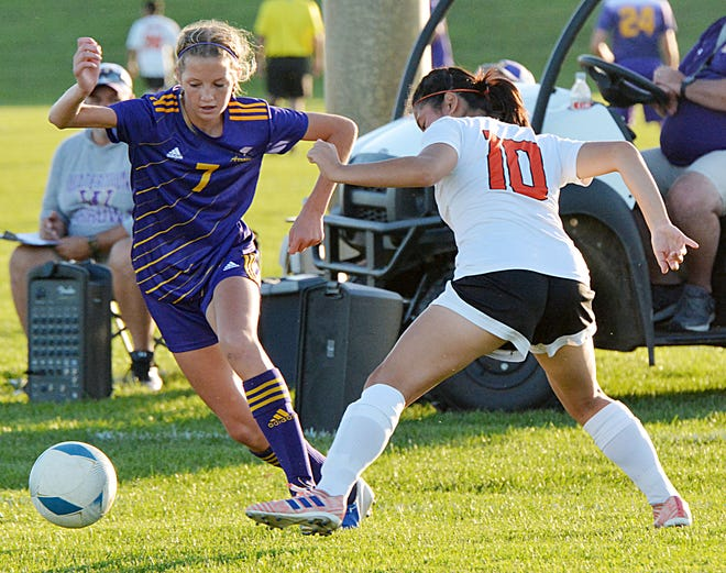 Katie Fischer (7) and the Watertown High School girls soccer team continues to receive votes this week in the South Dakota High School Soccer Coaches poll. The Arrows (7-7) open the SDHSAA playoffs on Tuesday, Oct. 5.