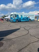 The Hamilton County 513 Relief Bus provides resources including COVID-19 vaccines and testing