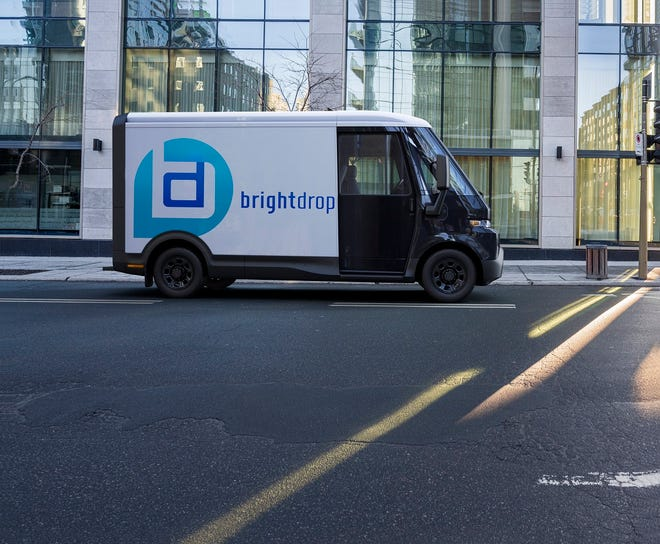 BrightDrop's new EV410 all-electric commercial van to be built in 2023 for Verizon.