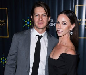 Craig Coyne and Barbara Pierce Bush attend the George H.W. Bush Points of Light Awards Gala at the Intrepid Sea, Air & Space Museum Sept. 26, 2019, in New York.