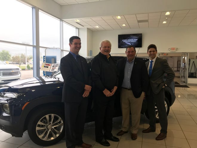 This 2022 Chevy Trailerblazer is being raffled at $20 a ticket or 6 for $100 by Graham Chevrolet, 1515 W. Fourth St. to benefit United Way of Richland County's programs and services. Left to right, Dan Varn, executive director of United Way, Ken Williams, general manager of Graham Chevrolet, Scott King and Jason Painley, campaign chair and board chair, respectively, for the local United Way agency.