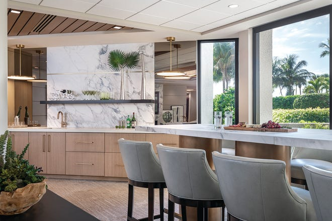 Wegman Design Group recently elevated the design and finishes of The Esplanade Club's popular and highly utilized Social Room.