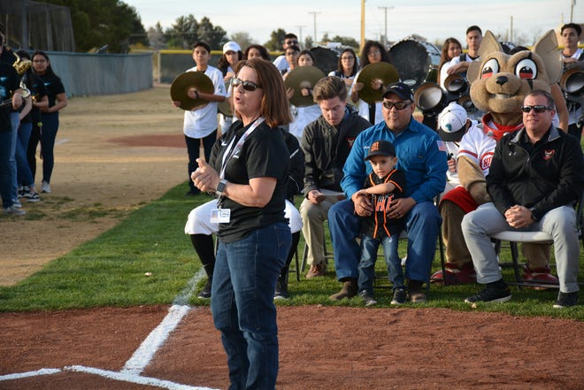 Gadsden ISD athletic director Karen Nougues was named Athletic Director of the year for Class 4A high schools by the New Mexico Association of Athletic Directors Tuesday, Sept. 29.