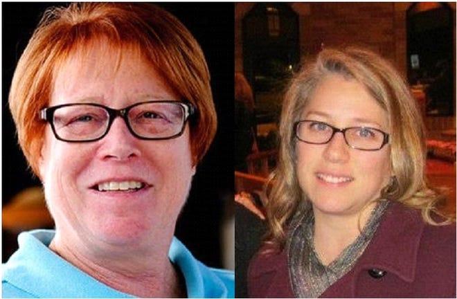 Farmington Hills Mayor Vicki Barnett, left, and Gina Phillips.