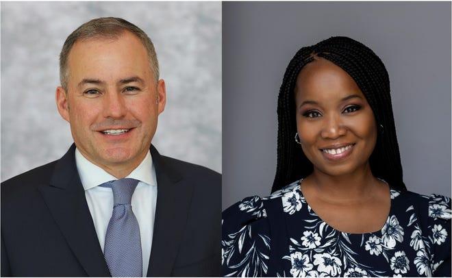 Westland Mayor Bill Wild and Councilwoman Tasha Green.