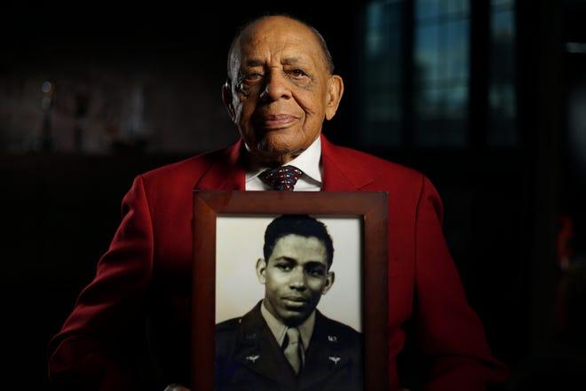 Retired Lt. Colonel Harold Brown, a member of World War II's Tuskegee Airmen.