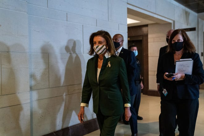 Speaker of the House Nancy Pelosi, D-Calif., on Capitol Hill on Sept. 13, 2021, in Washington, D.C. (Kent Nishimura/Los Angeles Times/TNS)