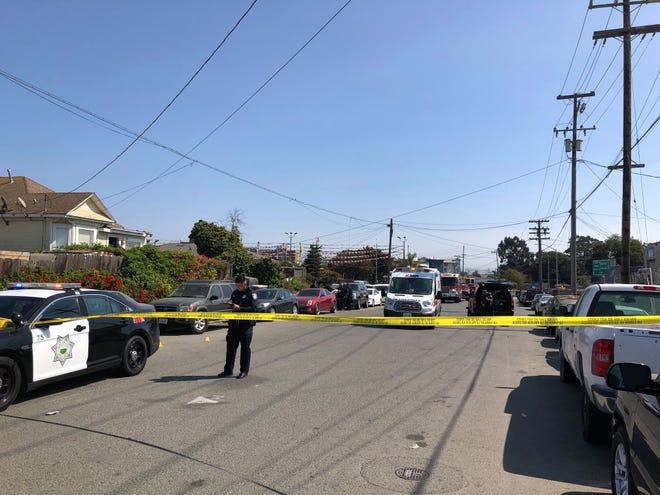 Salinas police investigate a homicide on Monday, September 27, 2021.