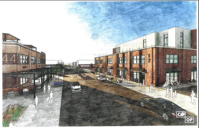 A rendering of the proposed Iron Horse Lofts in downtown Sioux Falls.