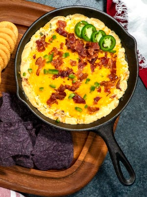 Jalapeño Popper Dip is easy to put together, can be made ahead of time and will likely be the first appetizer to disappear.