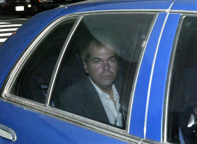 In this Nov. 18, 2003, file photo, John Hinckley Jr. arrives at U.S. District Court in Washington. (AP Photo/Evan Vucci)