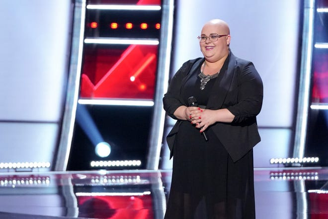 """Holly Forbes competes on """"The Voice."""""""