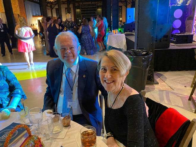This photo shows Don and Margie Varnadoe attending a March 2021 awards banquet in Savannah, Ga., for the real estate office where Don Varnadoe worked. The husband and wife from St. Simons Island, Ga.,were among three people killed when an Amtrak train derailed in Montana on Saturday, Sept. 25, 2021.