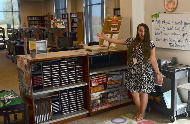 Youth Services Librarian Rainea Urbina is excited to show off the new makerspace at the Melissa Public Library.
