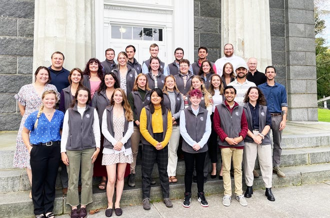 Barnstable County welcomes new Americorps members Wednesday on the steps of the Barnstable Superior Courthouse.