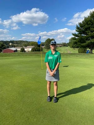 Breanna Flood is the first female golfer at BHS to advance to District competition in the school's history.