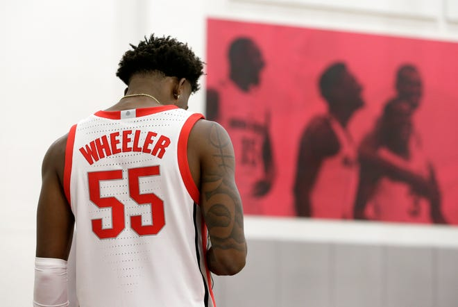 Penn State transfer Jamari Wheeler's defense may give him an early edge among the talented players battling for minutes in the Ohio State men's basketball team's backcourt.