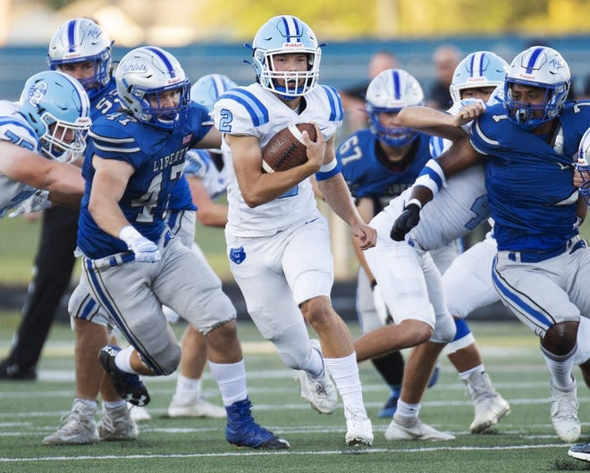 Harrison Brewster and Olentangy Berlin visit Hilliard Darby on Oct. 1 for an OCC-Cardinal game.
